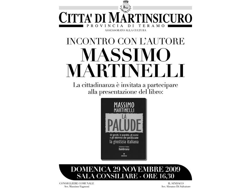 Massimo Martinelli a Martinsicuro domenica 29 novembre